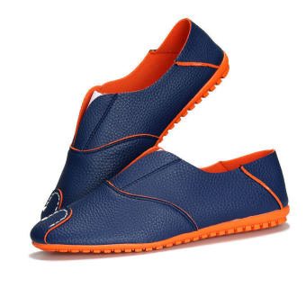 Fashion Simple Leather Men's Loafers – Blue - picture 2