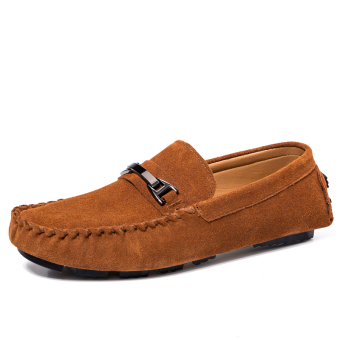 Fashion Simple Men Classic Loafers Brown - picture 2