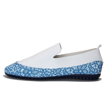 Fashion Simple Pattern Men's Loafers – Blue