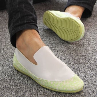 Fashion Simple Pattern Men's Loafers – Green - picture 2