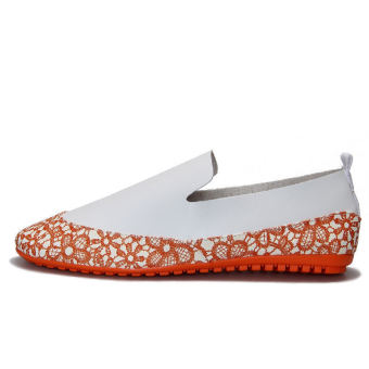 Fashion Simple Pattern Men's Loafers – Orange - picture 2