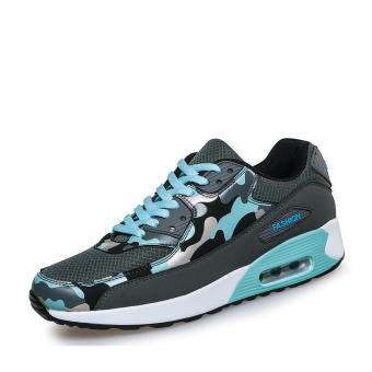 Fashion Sport Camouflage Men Low Cut Sneakers - Grey