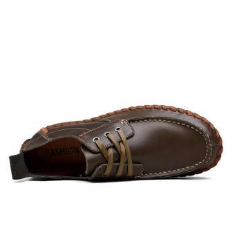 Fashion Square head Loafers - Dark Brown - picture 2