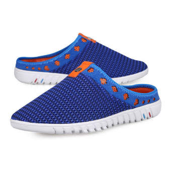 Fashion Stripe Flat Shoes-Blue