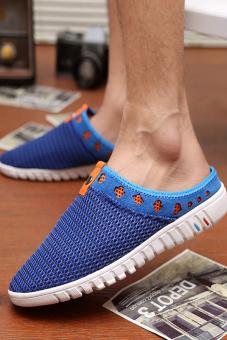 Fashion Stripe Flat Shoes-Blue - picture 2