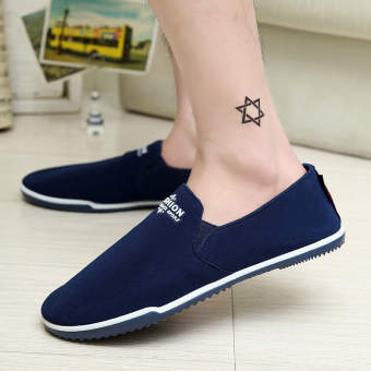 Fashion Summer Breathable Soft Bottom Loafers –Blue