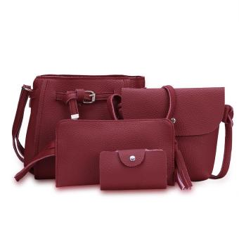 Fashion Trend 4 in 1 Bag Set BBWJH0021 (Maroon) Price Philippines