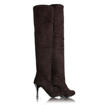 Fashion Winter Women Over The Knee Long Thigh Stretch High Heels Platform Boots - intl