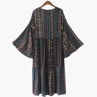 Fashion Women Bohemian Print Midi Dress - intl - 3
