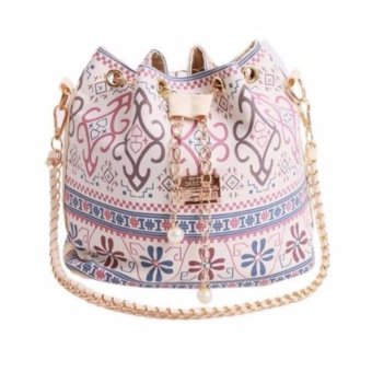 Fashion Women Canvas Shoulder Bags Crossbody Chain Bags Beige