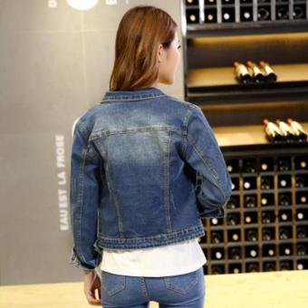 Fashion Women Denim Western Cropped Jean Jacket - intl - 4