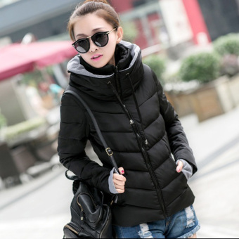Fashion Women Warm Winter Thicken Coat Hooded Overcoat Long Jacket Outwear (Black)