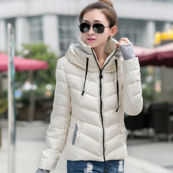 Fashion Women Warm Winter Thicken Coat Hooded Overcoat Long Jacket Outwear (White)