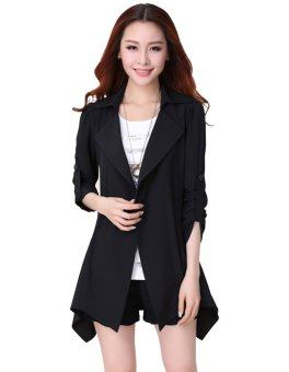 Fashion Womens Casual Trench Coat Long Jacket Overcoat Outerwear