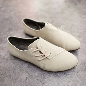Fashion Womens Classics Casual Shoes Oxfords Loafers Sneaker Low Flats Heeled - 3