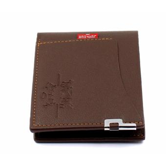 Fashionable Mens Short Wallet With Simcard Pocket Holder (BROWN )FREE GIFT BOX AND MICROWAVABLE PLASTIC CONTAINER - 2