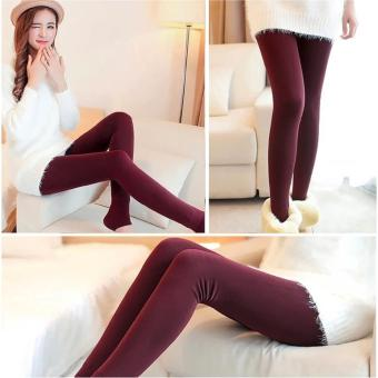 Fashionista Fashionable Plain Leggings (Maroon)