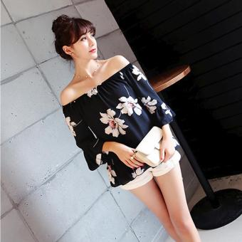 Fashionista Heon Woo ?? Korean Style Floral Off Shoulder (Black) Price Philippines
