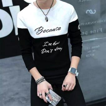 Fashionista HQ Fashion Because I'm Here Don't Worry StatementSweater (Black/White) Price Philippines