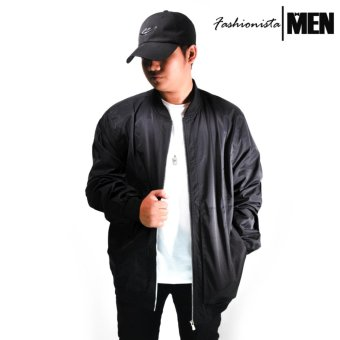 Fashionista MEN | Bomber Jacket Small to Plus Size (Black)