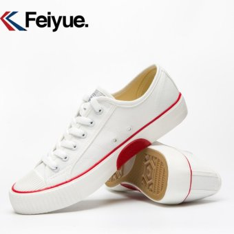 Feiyue shoes canvas shoes restoring ancient ways Low classic for men's and women's shoes(White) - intl - 4