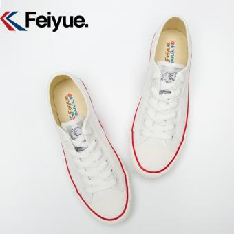 Feiyue shoes canvas shoes restoring ancient ways Low classic for men's and women's shoes(White) - intl - 5