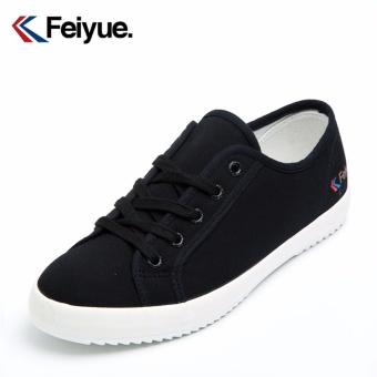Feiyue shoes/feiyue classic Korean version of the little black shoes/sneakers men and women(Black) - intl