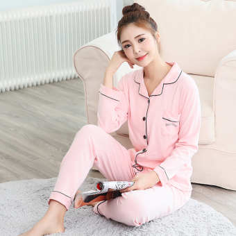 Female cardigan tracksuit pajamas (Pink)
