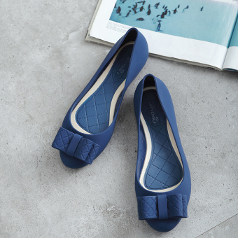Female flat heel shoes sandals (Blue)