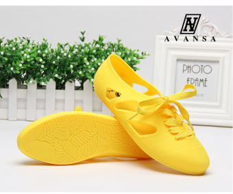 Female flat sandals (Yellow)
