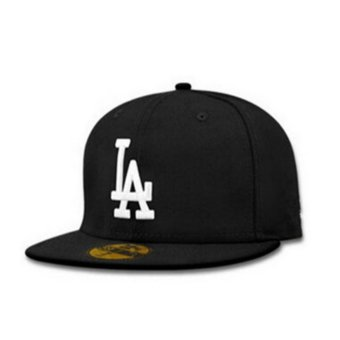 Female male LA flat along the hat hip-hop baseball cap spring summer(Black white) - intl Price Philippines