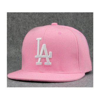 Female male LA flat along the hat hip-hop baseball cap spring summer(Pink) - intl Price Philippines