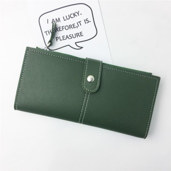 Female multifunction phone package New style women's wallet (Green)