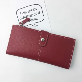 Female multifunction phone package New style women's wallet (Red)