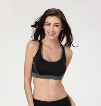 Fenta vest style running thin no rims bra I bra (Black)