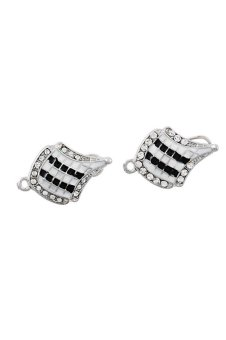 Flag Stud Earrings Silver - picture 2