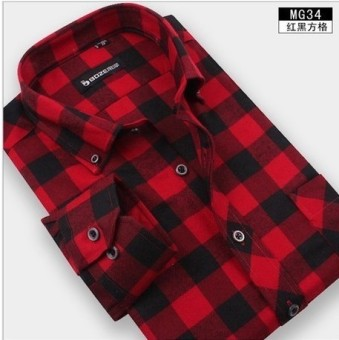Flannel autumn and winter New style men's shirt (MG34)