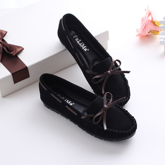 Flat with peas shoes Shoes (Black)