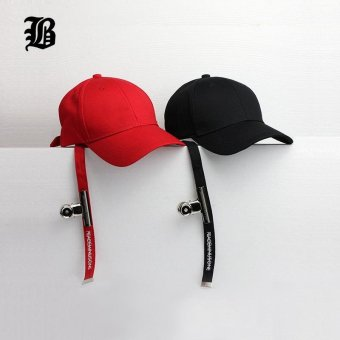 [FLB] Baseball cap Peaceminusone Long Strap Belt Snapback hats for men women brand hip hop Fitted dad caps sun hat - intl