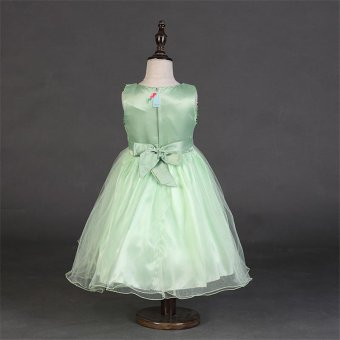 Flower Girl Kids Baby Xmas Bridesmaid Party Formal Sequin Ball GownDress 2-10Y(Green) - intl - 4