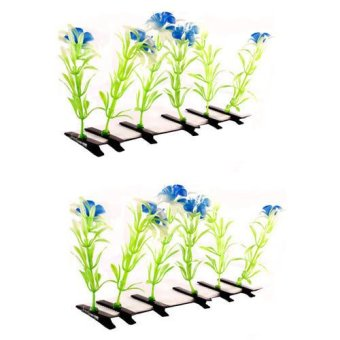 Flower Hair Clip Set of 12 (Blue)