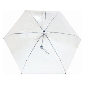 Foldable Clear Umbrella (White)