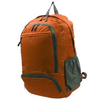 Foldable Stylish Travelling Backpack (Orange) - picture 2