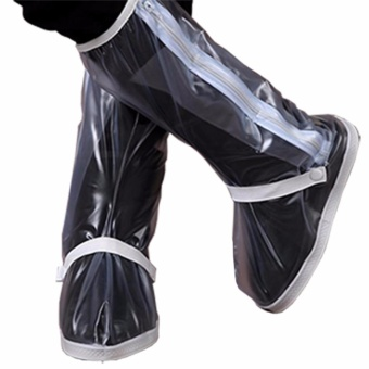 Foldable Waterproof Flood Proof Rain Boot Shoe Cover for Women(MEDIUM/white)