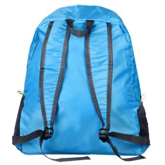 Folding Shoulder Bag Female Outdoor Backpack (Blue) - picture 2