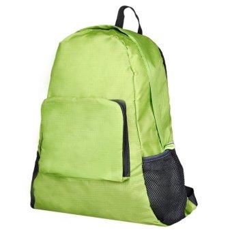 Folding Shoulder Bag Female Outdoor Backpack Green - picture 2