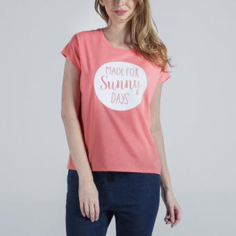 FOR ME Circular Knit Tee (Pink) Price Philippines