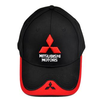 For Mitsubishi Emblem Hat Cap Car Logo Moto Racing Baseball Cap Adjustable Sun Hat For Mitsubishi Asx Lancer 10 Utlander Pajero - intl