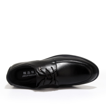 Formal Leather Flat Shoes - Black - picture 2