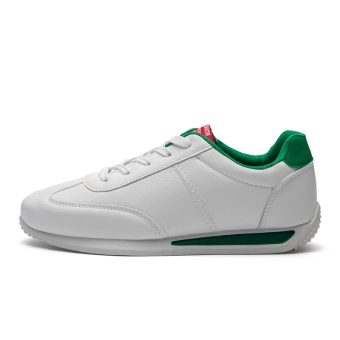 Forrest Gump Korean-style student running shoes men's shoes (1702 white and green)